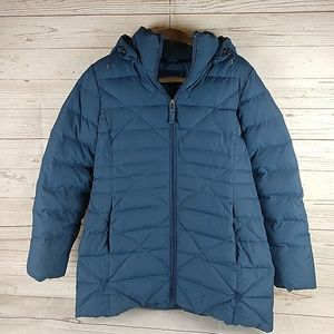 Lands End down jacket Small Blue